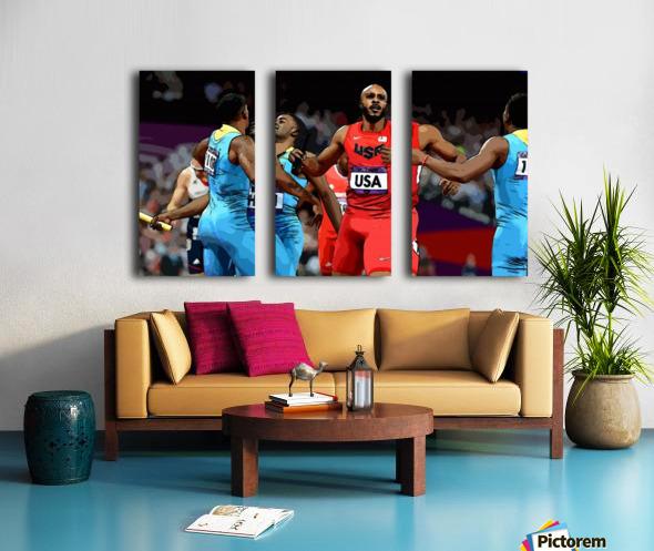 Athletics_33 Split Canvas print