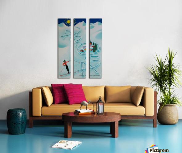 Original vintage poster ski Arosa Suisse Split Canvas print