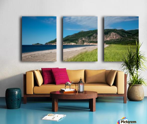 Petit Etang Beach Memories Split Canvas print