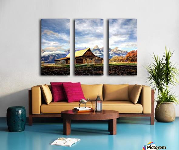 Mormon Row   Jackson Hole Split Canvas print