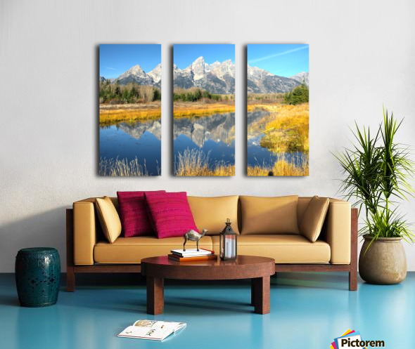 Beavers View of Tetons Split Canvas print