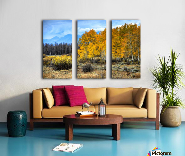 Fall Holdouts in Jackson Hole Split Canvas print