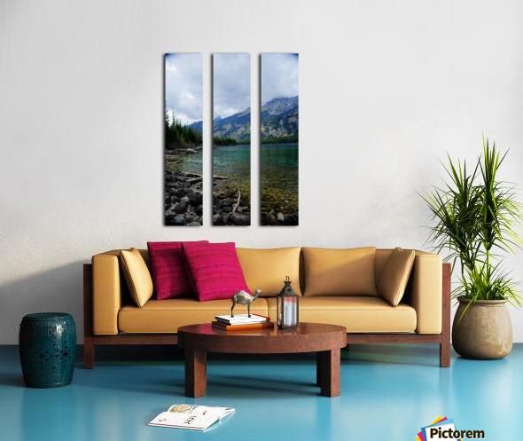 Jenny Lake   Jackson Hole Split Canvas print