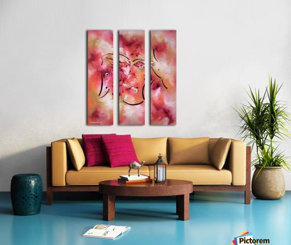 Act Including Silent Figure Split Canvas print