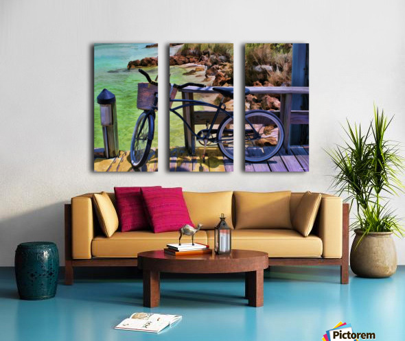 beach  bike  Split Canvas print