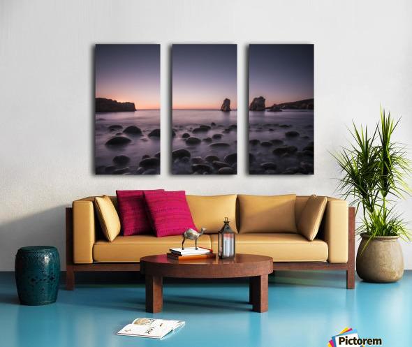 Carmel Sunset Split Canvas print