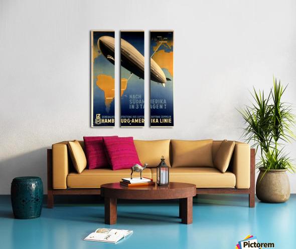 Graf Zeppelin to Argentina Split Canvas print