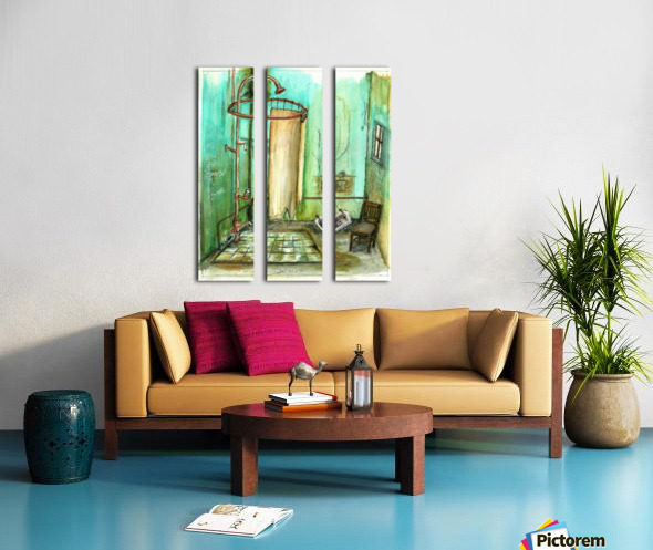 abandoned bathroom I Split Canvas print