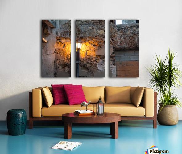 The yelow Light  Split Canvas print