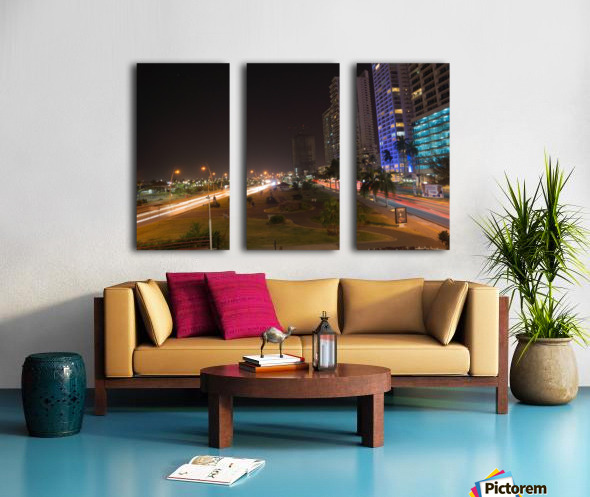 Cinta Costera Long Exposure  Split Canvas print
