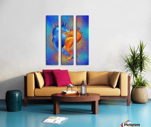 Tenimessa V1 - amazing seahorses Split Canvas print