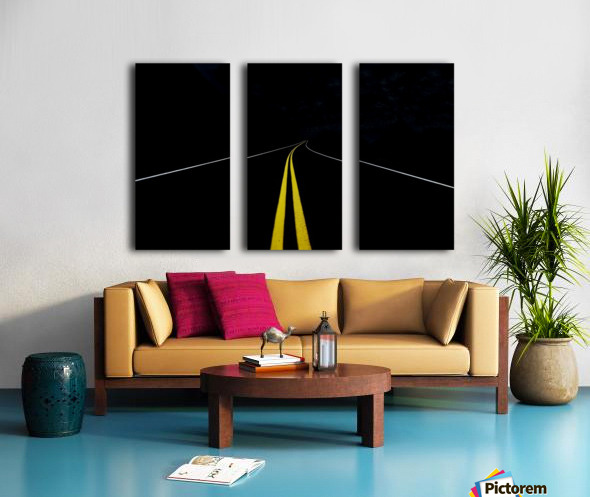 The Road to Nowhere Split Canvas print