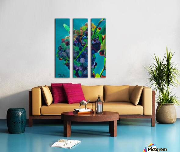 Grapes Split Canvas print