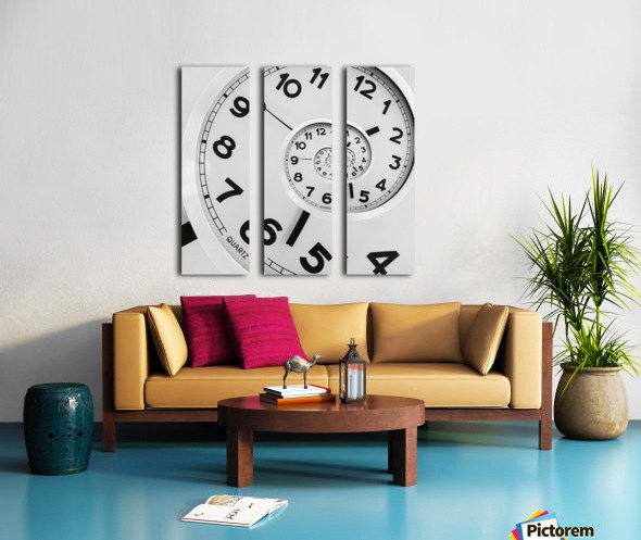 Time Split Canvas print