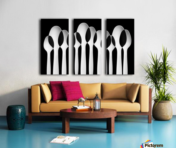 Spoons Abstract:  Forest Split Canvas print