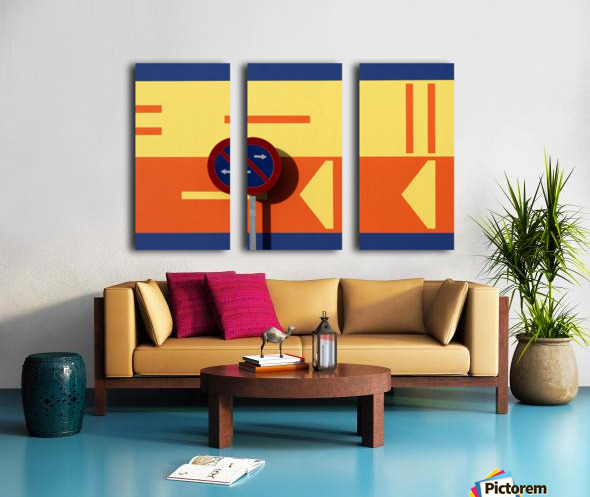 B Split Canvas print