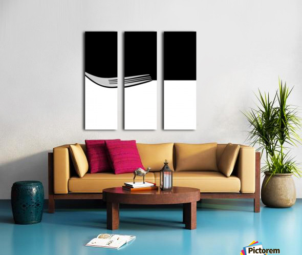 Minimal Abstraction Split Canvas print