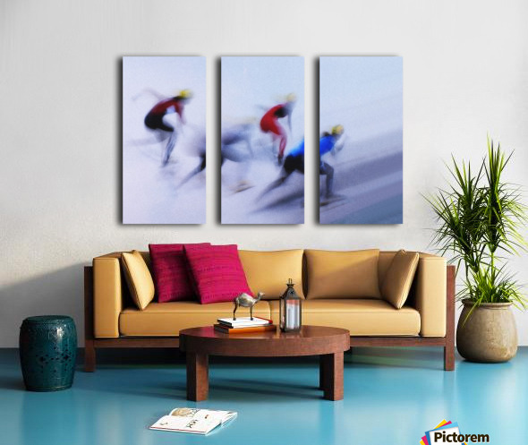 Speed Skating 1 Split Canvas print