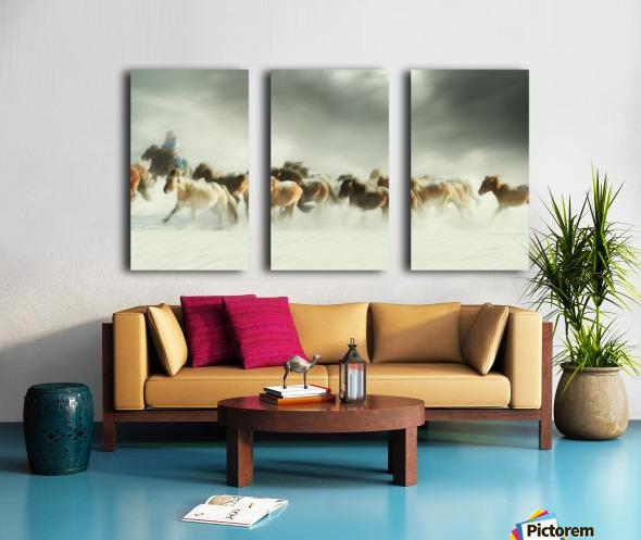 Horses gallop Split Canvas print