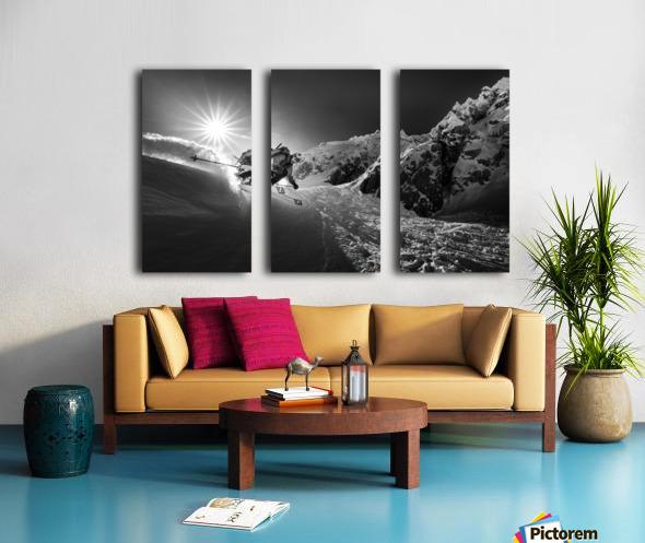 Snow splash over the edge Split Canvas print