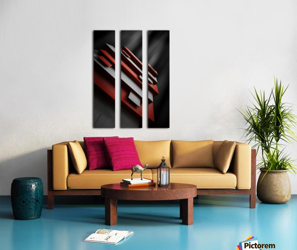 red&white Split Canvas print