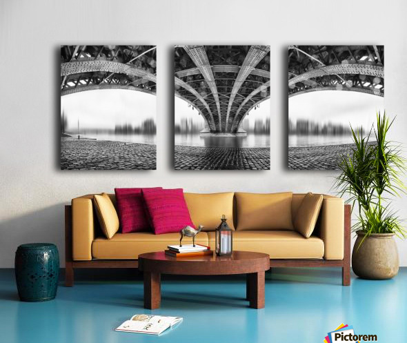 Under The Iron Bridge Split Canvas print