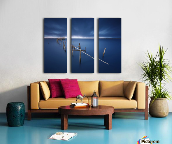 Carrasqueira azul Split Canvas print