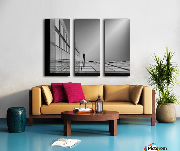 The evolution of space ... Split Canvas print