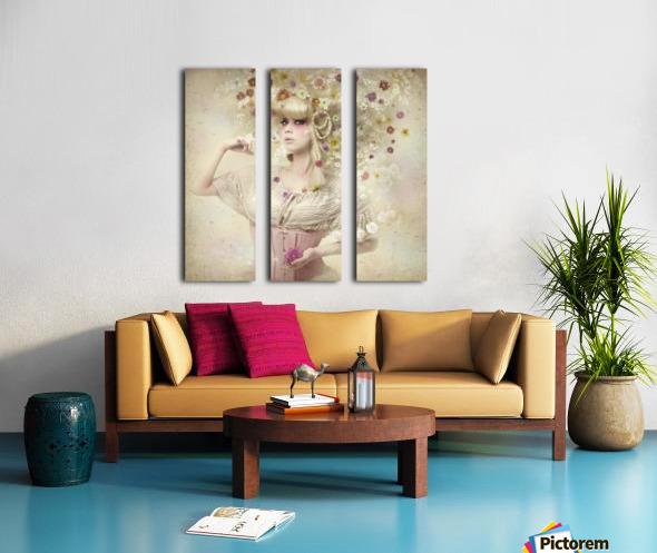 Girl of the flower garden Split Canvas print