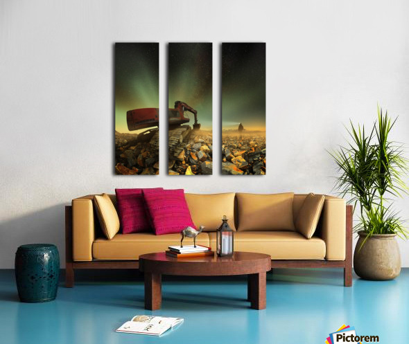 Goldherer Split Canvas print