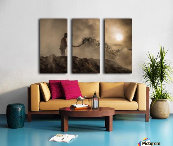 New world creation Split Canvas print