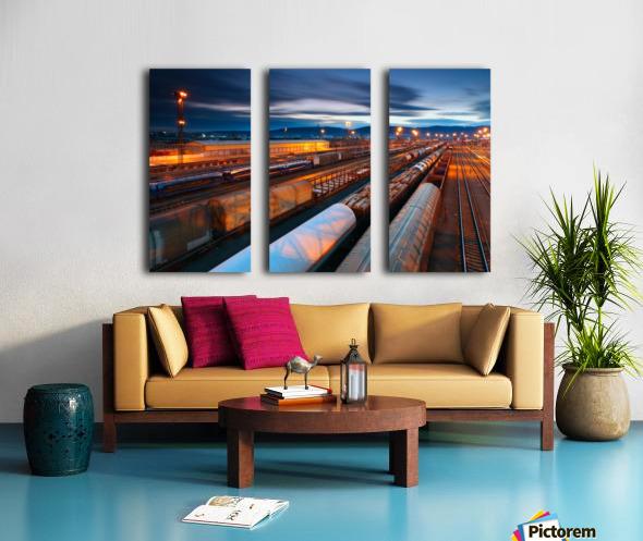 Freight station Split Canvas print