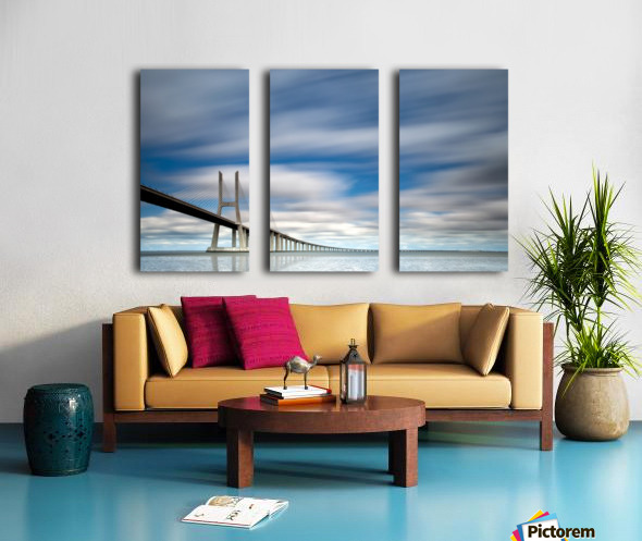 in BLUE Split Canvas print