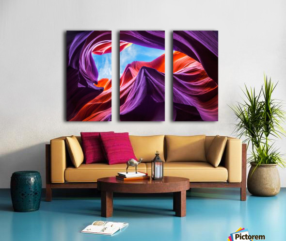 Magical Lower Antelope Canyon Split Canvas print