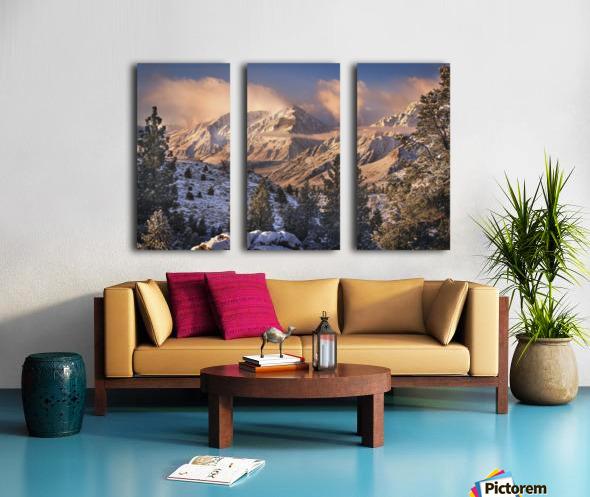 Mountain Light Split Canvas print