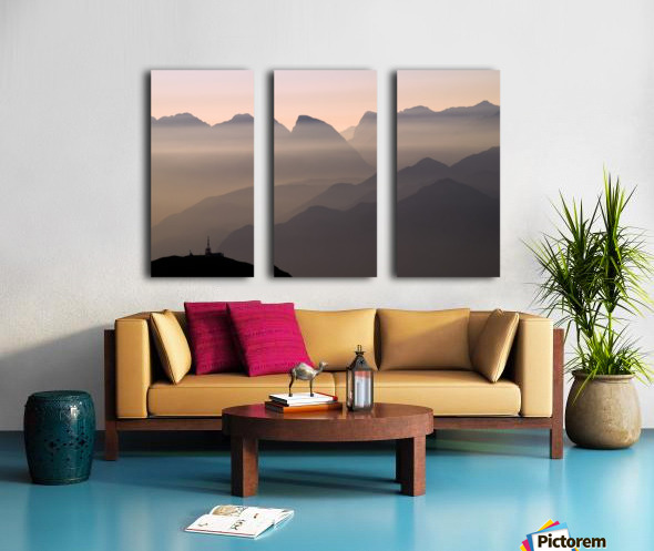 Alpine Sunset Split Canvas print