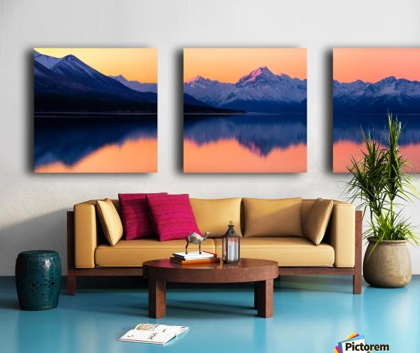 Mount Cook, New Zealand Split Canvas print