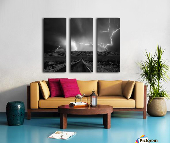 On the Road with the Thunder Gods Split Canvas print