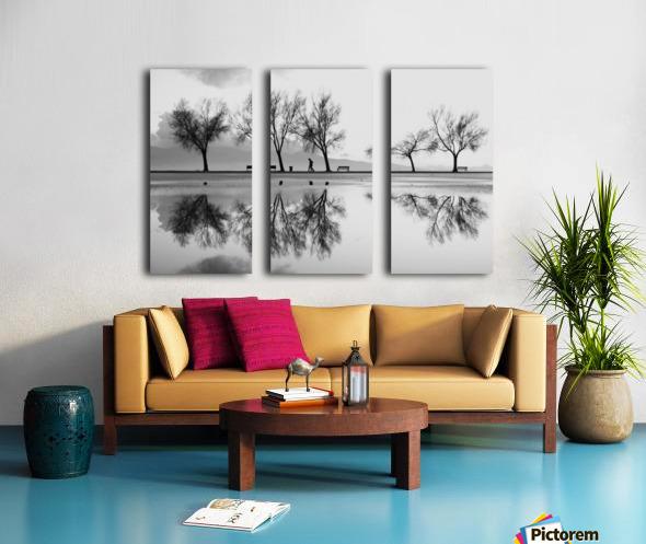 KarAŸA±yaka'dan Bir YansA±ma Split Canvas print