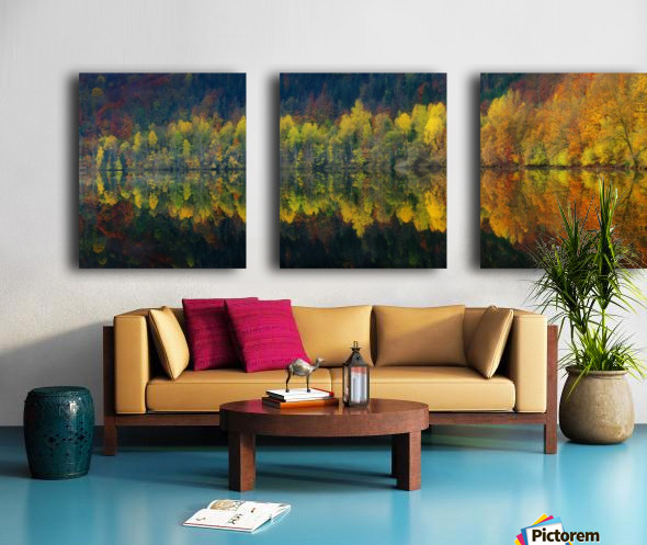 Autumnal silence Split Canvas print