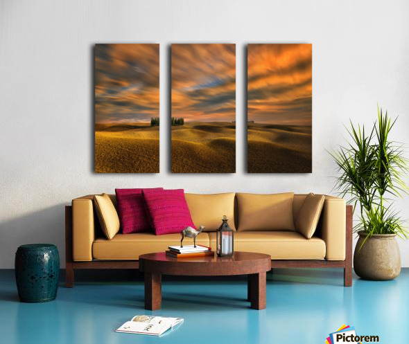 Cypresses... Split Canvas print