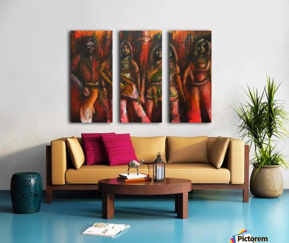 Bad ABBA Split Canvas print