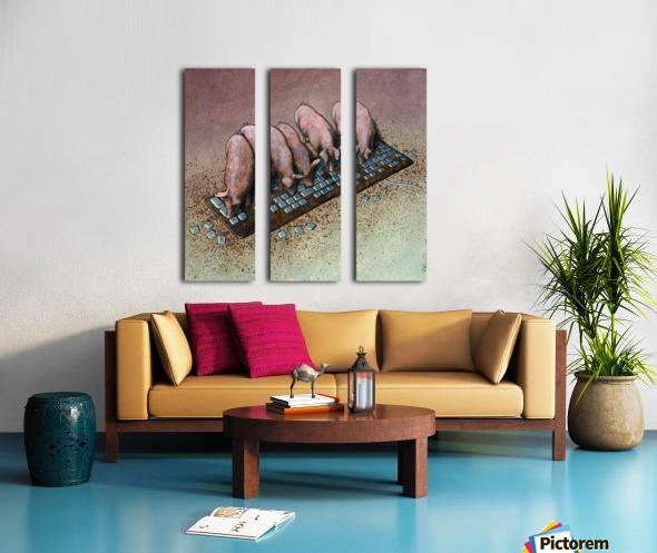 Haters Split Canvas print