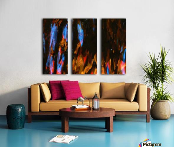 Blue Procession Split Canvas print