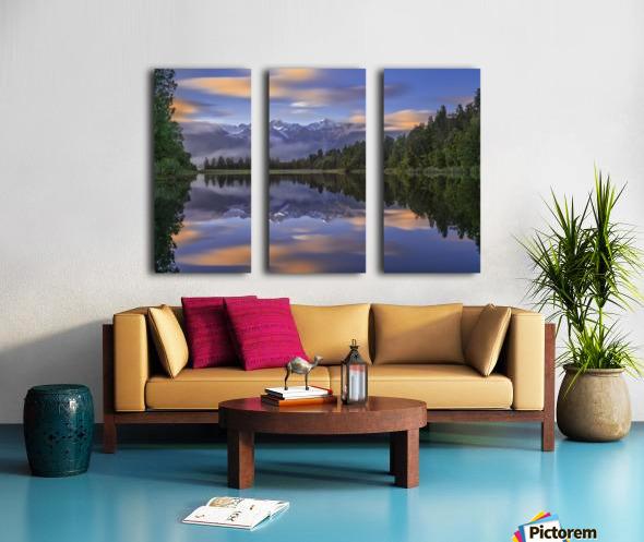 Lake Matheson Split Canvas print