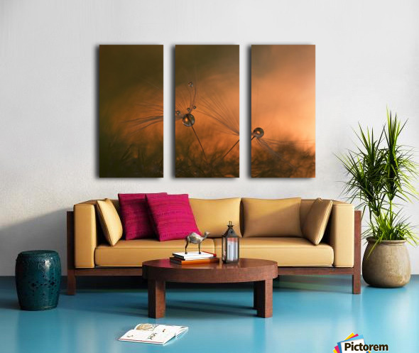 Forest fire Split Canvas print