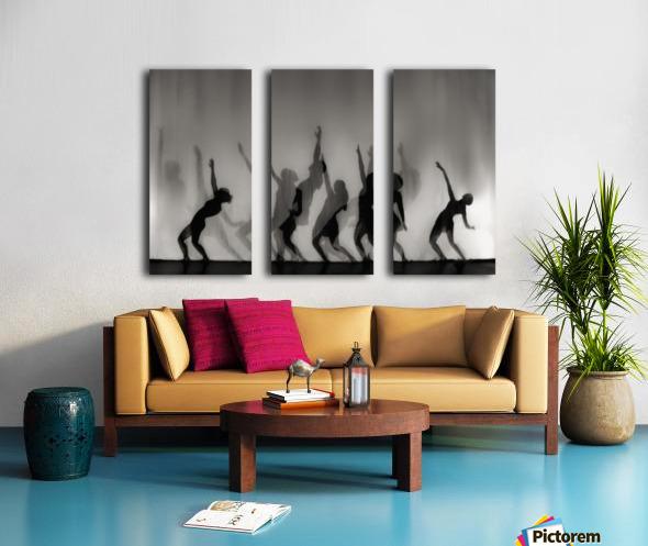 Dance is the language of the soul ... Split Canvas print