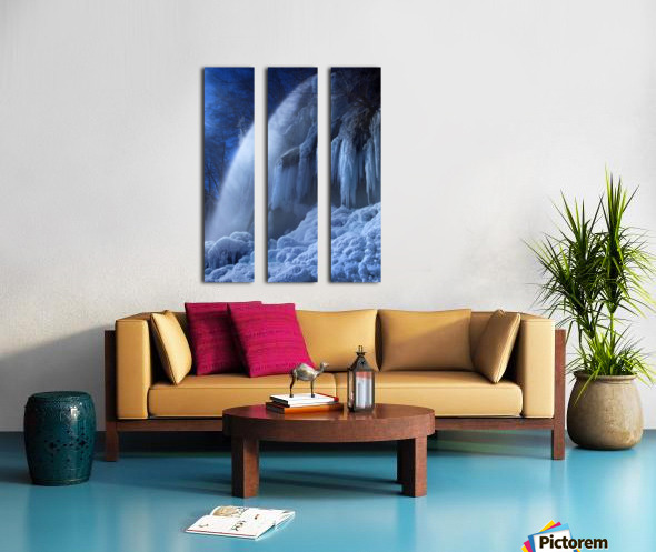 Frozen in the moonlight Split Canvas print