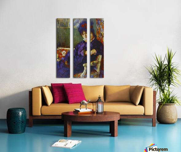 Seated Woman by Cassatt Split Canvas print
