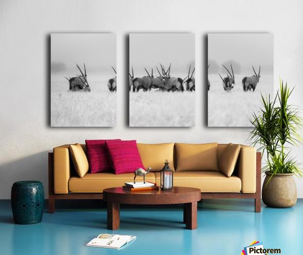 Oryx in the rain Split Canvas print